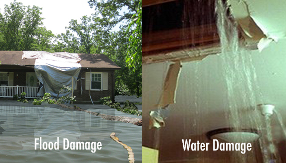 The Difference Between Water Damage and Flood Damage