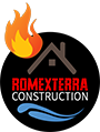 Romexterra Construction Inc. White Logo